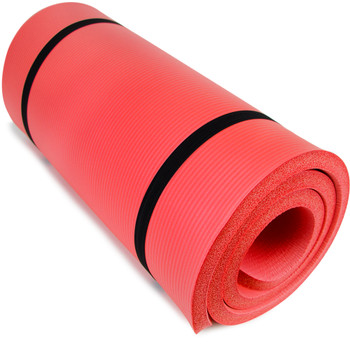 """Ultra Thick 1"""" Yoga Cloud, Red"""