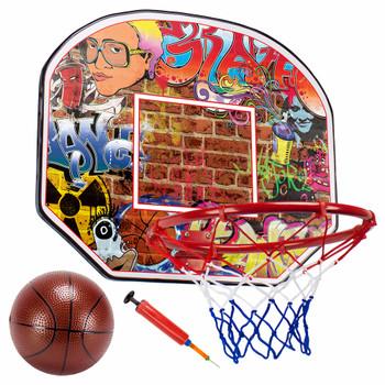 12in Urban Graffiti Mini Hoop with Ball and Pump