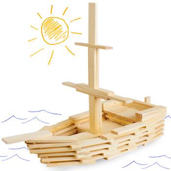 Constructables! Pine Wood Building Planks, 150pcs.