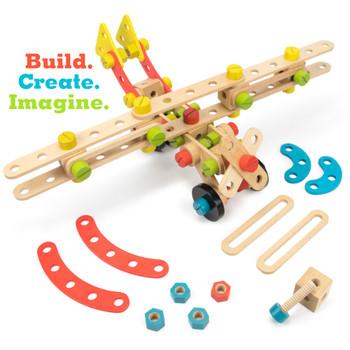 Constructables 92pc. Wood Building Set