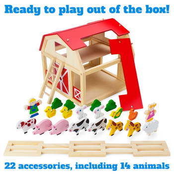 Busy Barnyard Farm Animals Playset