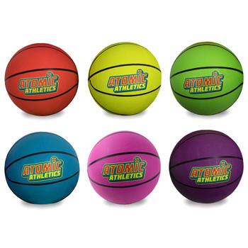 6 Regulation Size Neon Basketballs