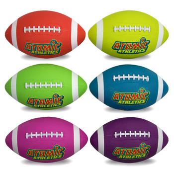 6 Regulation Size Neon Footballs