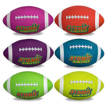 6 Youth Size Neon Footballs