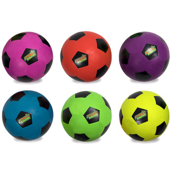 6 Youth Size Neon Soccer Balls