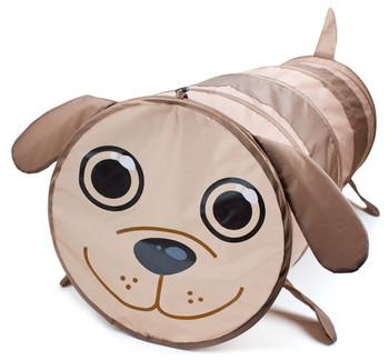 6 Foot Puppy Themed Children's Exploration Pop-Up Tunnel