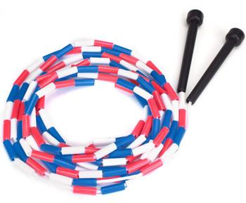 Single 16 foot Double Dutch jump rope w/plastic segmentation