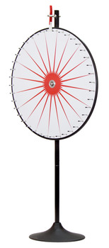 "36"" Custom Dry Erase White Prize Wheel w/Extension Base"