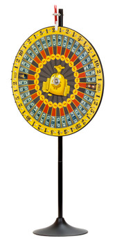 "36"" Spin Money Prize Wheel w/Extension Base"