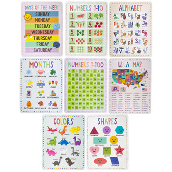 8-pack Classroom Posters 17' x 22'