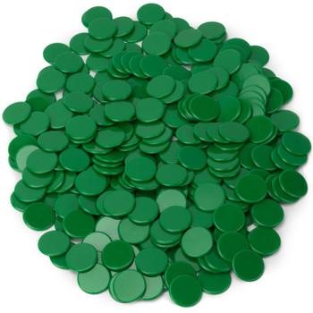 Solid Green Bingo Chips, 300-pack