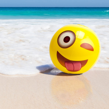 "18"" Emoji Beach Balls, Pack of 6"