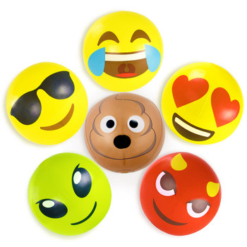 18' Emoji Beach Bums, 6-pack