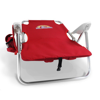 4-Position Folding Beach Chair, Red