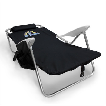 4-Position Folding Beach Chair, Black