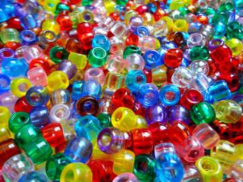 Assorted Transparent Pony Beads