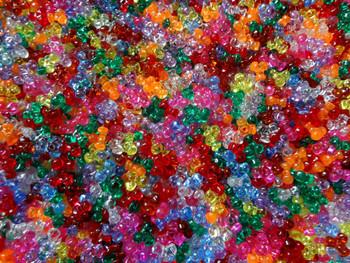 Assorted Transparent Tri-Beads