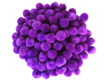 "100 Count - 1"" Purple Craft Poms"