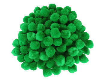 "100 Count - 1"" Green Craft Poms"