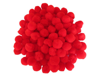 "100 Count - 1"" Red Craft Poms"