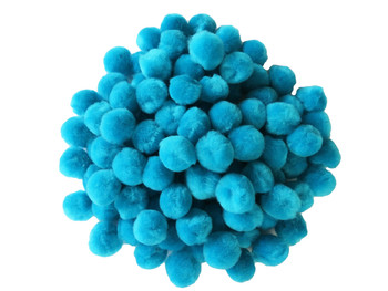 "100 Count - 1"" Blue Craft Poms"