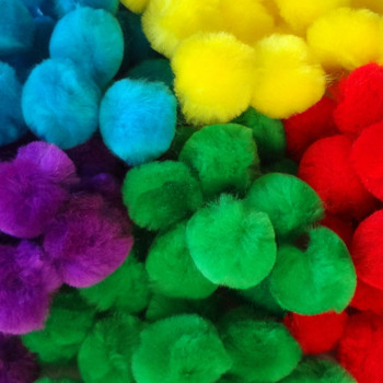 "100 Count - 1"" Assorted Craft Poms"