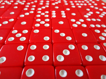 Red 16mm Opaque Game Dice