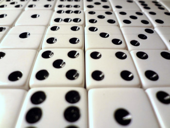16mm White Dice w/ Black Pips