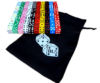 100 Count - 16mm Assorted Dice (10 Colors) w/ Dice Bag