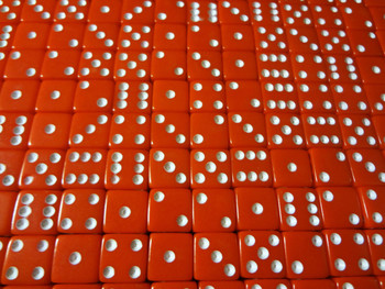 8mm Red Dice w/ White Pips