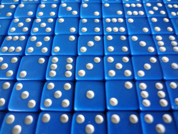 8mm Blue Dice w/ White Pips