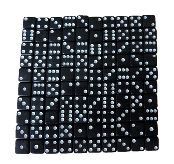 8mm Black Dice w/ White Pips
