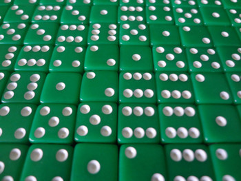 8mm Green Dice w/ White Pips