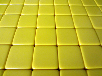 16mm Blank Yellow Dice