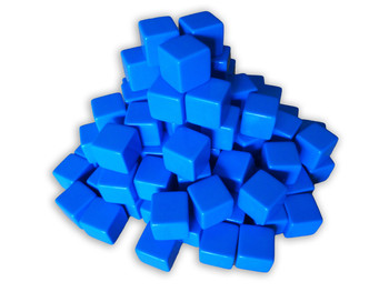 16mm Blank Blue Dice