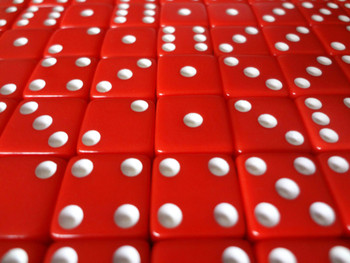 12mm Red Dice w/ White Pips