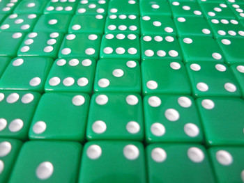 12mm Green Dice w/ White Pips