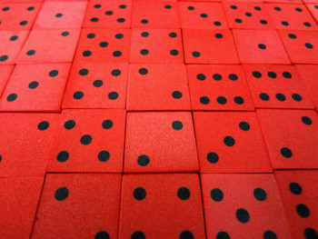 16mm Red Foam Dice w/ Black Pips