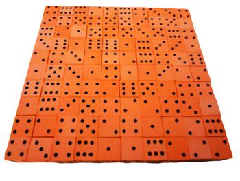 16mm Orange Foam Dice w/ Black Pips