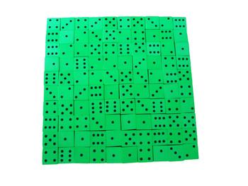 16mm Green Foam Dice w/ Black Pips