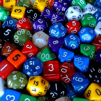 100 Assorted Polyhedral Dice