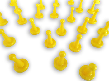 Yellow Game Pawns