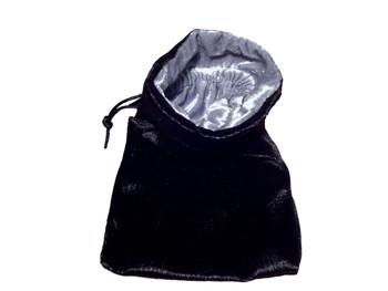 Velvet Drawstring Pouch in Black