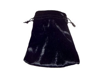 Velvet Drawstring Pouch in Black