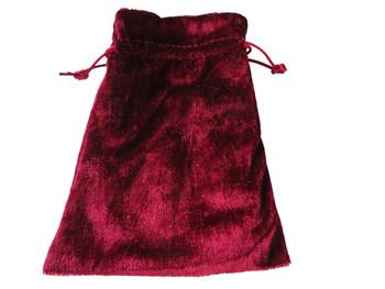 Velvet Drawstring Pouch in Red