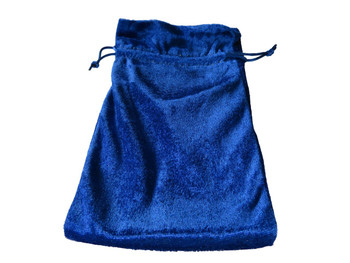 Velvet Drawstring Pouch in Blue
