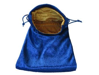 Velvet Drawstring Pouch in Blue