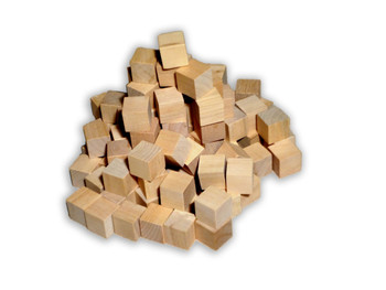 100 Count - 16mm Wooden Cubes