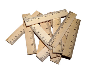 """12 Count - Wooden 6"""" Rulers"""