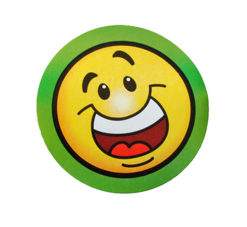 Goofy Smile Happy Face Sticker Rolls (Roll of 100)